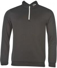 Dunlop Quarter Zip Pullover Mens, black