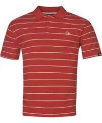 Dunlop Stripe Polo Mens, red/white