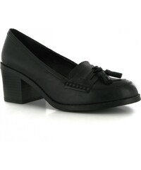 Miso Tilly Ladies Loafers, black pu