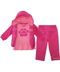 Lonsdale Three Piece Baby Joggers Baby Girls, deeppink/ltpink