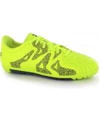Adidas X 15.3 Leather Junior Astro Turf Trainers, solar yellow