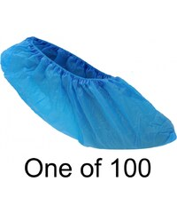 Beco 100 Pair Shoe Cover, blue