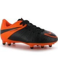 Nike Hypervenom Phelon FG Child Football Boots, black/orange