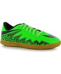 Nike Hypervenom Phade Junior Indoor Football Trainers, green/black
