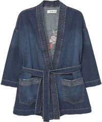 MANGO Kimono Denim Brodé