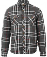 Lee Cooper Lined Fleece Shirt Junior Boys, charcoal/black