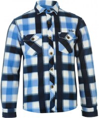 Lee Cooper Lined Fleece Shirt Junior Boys, navy/blue/white