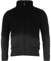 Firetrap 2 Zip Knitted Cardigan, charcoal/black