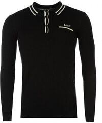 Lee Cooper Merino Wool Polo Top Mens, black