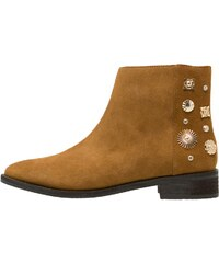 Eeight REYES Boots à talons cognac/gold
