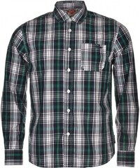 Lee Cooper Long Sleeved Fashion Check Shirt Junior, navy/green/whit