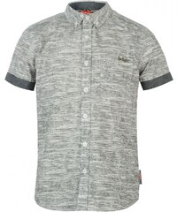 Lee Cooper Short Sleeve All Over Pattern Textile Shirt Boys, grey m aop