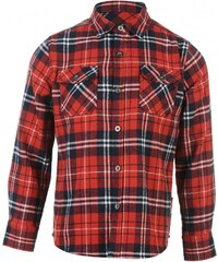 Lee Cooper Flannel Shirt Junior Boys, red/navy/white