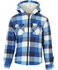 Lee Cooper Lined Hooded Shirt Junior Boys, blue/white