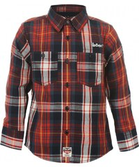 Lee Cooper Long Sleeve Check Infants Shirt, red/navy check