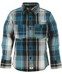Lee Cooper Long Sleeve Check Infants Shirt, teal check
