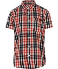Lee Cooper Short Sleeved Checked Shirt Junior Boys, white/red/black