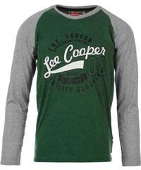 Lee Cooper Long Sleeve Raglan Crew TShirt Junior Boys, vint grn/grey m