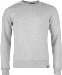 Fabric Quilted Body Sweater, grey