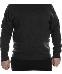 Pierre Cardin Extra Large Crew Knitted Jumper Mens, charcoal marl