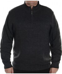 Pierre Cardin Extra Large Quarter Zip Jumper Mens, charcoal marl