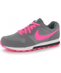 Nike MD Runner 2 Junior Girls Trainers, grey/pink
