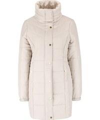Béžová dlouhá prošívaná bunda s vysokým límcem Vero Moda Papette
