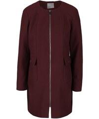 Vínový kabát Vero Moda Glory