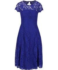 Královsky modré krajkované šaty Dorothy Perkins