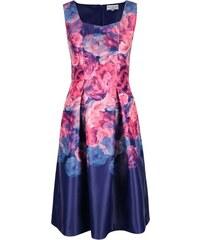 Modro-růžové květované šaty Wolf & Whistle