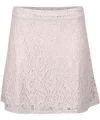 Krémová krajkovaná sukně ONLY Lace