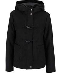Černý kratší kabát s kapucí Vero Moda Modaliga