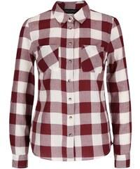 Vínová kostkovaná košile Dorothy Perkins