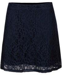 Tmavě modrá krajkovaná sukně ONLY Lace
