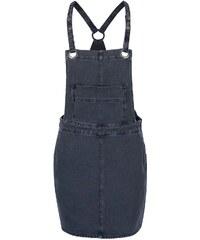 Tmavě šedé džínové šaty s lacly VILA Setta