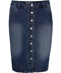 Modrá džínová sukně s konflíky ONLY Denim