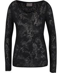 Černý průsvitný top Vero Moda Gro