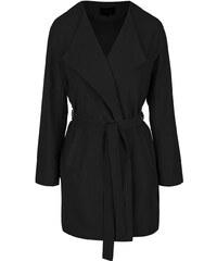Černý kabát se zavazováním VILA Can