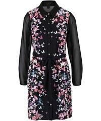 Černé košilové šaty s motivem motýlů a květin Lipsy