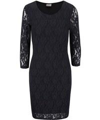 Černé krajkované šaty s dlouhým rukávem Vero Moda Lilly