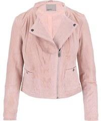 Světle růžová semišová bunda Vero Moda Fina