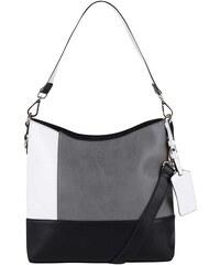 Černo-bílo-šedá velká kabelka LYDC