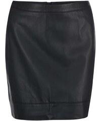 Černá koženková sukně Dorothy Perkins Curve