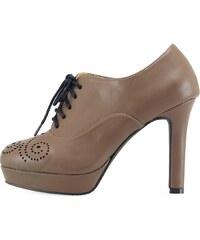 Béžové boty Victoria Delef s dírkovaným vzorem