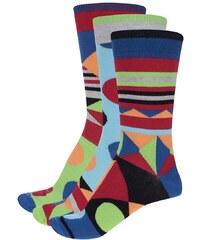 Sada tří pánských ponožek se vzory Oddsocks Ben