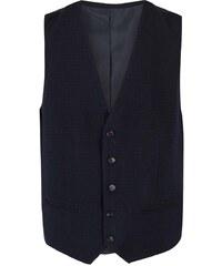 Tmavě modrá žíhaná formální vesta Selected Don Alex