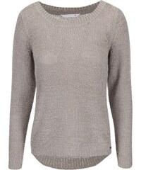 Šedohnědý pletený svetr ONLY Geena