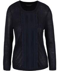 Tmavě modrý lehký svetr s volánky Dorothy Perkins