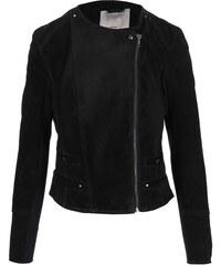 Černá semišová bunda na zip Vero Moda Forever