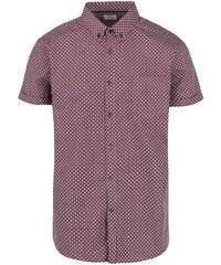 Vínová vzorovaná košile s krátkým rukávem Burton Menswear London